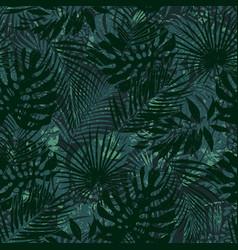 tropical leaves grunge wallpaper vector image
