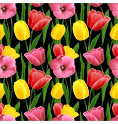 Tulip seamless background vector
