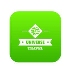 universe travel icon green vector image