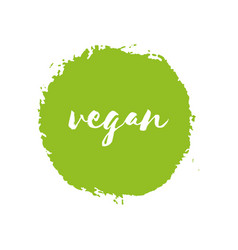 Vegan eco fresh bio raw organic green design vector