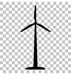 Wind turbine logo or sign Flat style black icon vector image