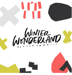 Winter wonderland greeting card vector