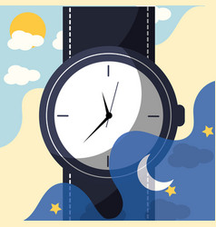wrist watch accessory elegant fashion vector image