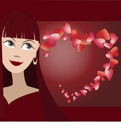 Background with face of girl vector image vector image