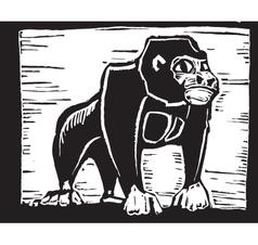 Gorilla Print vector image vector image