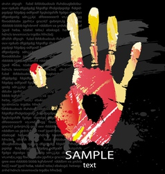 hand print splashes vector image vector image