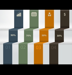 modern business steps to success charts vector image vector image