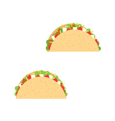 taco mexican cuisine vector image