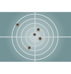 target and bullet holes vector image
