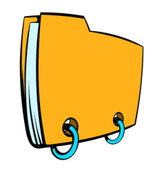 yellow file folder icon cartoon vector image
