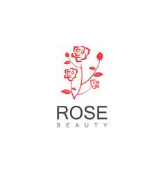 beauty rose logo vector image