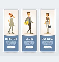 business people company staff director clerk vector image