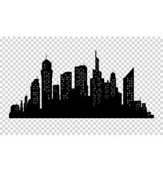 City skyline in grey colors Buildings silhouette vector image vector image