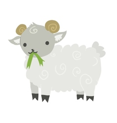 Funny cartoon sheep mascot vector image vector image