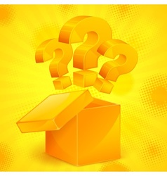 Question marks in box yellow vector image vector image