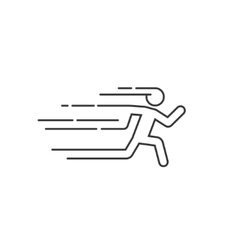 Running man with motion blur vector image