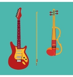 Set of string instruments electric violin vector