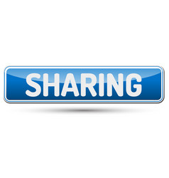 Sharing - abstract beautiful button with text vector