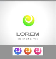 abstract logo design template fashion spa vector image vector image