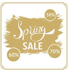 Big spring sale 70 off Big sale design template vector image