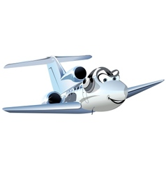 Cartoon Civil utility airplane vector image vector image