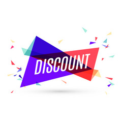 colorful banner with text discount vector image