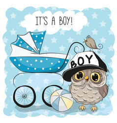 greeting card its a boy vector image vector image