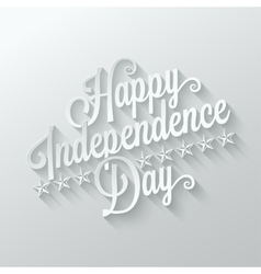 independence day cut paper lettering background vector image vector image