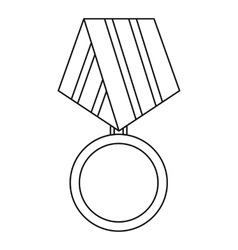 Military medal icon outline style vector