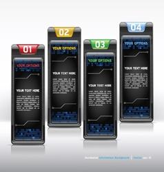 Modern web design template vector