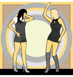 party girls vector image