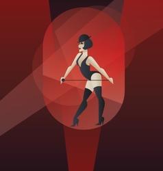 Art Deco poster design cabaret burlesque dancer vector image vector image