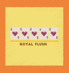 flat shading style icon royal flush vector image vector image