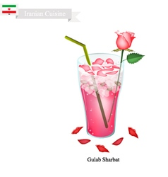 Gulab Sharbat or Iranian Drink Made From Rose vector image