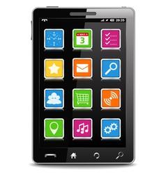 Modern Black Mobile Phone vector image vector image