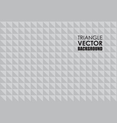 silver triangle background vector image vector image