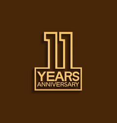 11 years anniversary design line style vector