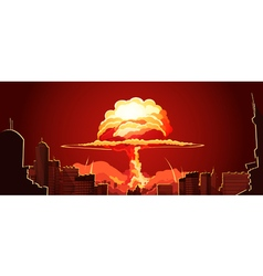 1608i126040Sm003c11nuclear explosion city vector image