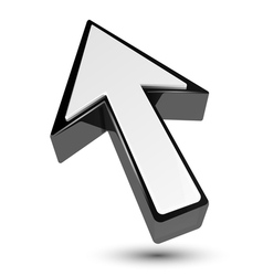 3d arrow cursor pointer vector image