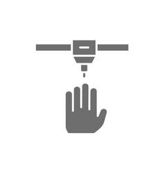 3d printing a human organs medical printer grey vector