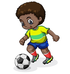 A Black soccer player vector image