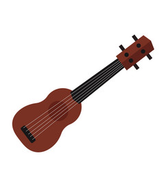 A small ukulele guitar isolated vector
