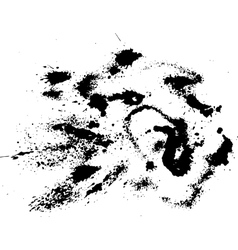 Abstract ink drops background Black and white vector image