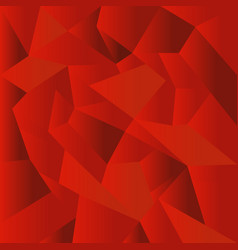 abstract red polygonal mosaic background vector image