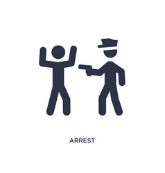 Arrest icon on white background simple element vector