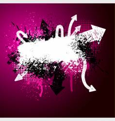 arrow paint splatter vector image