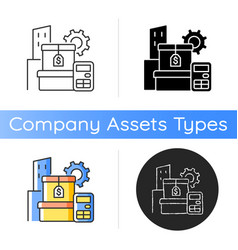 Assets management icon vector