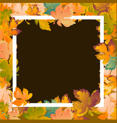 Autumn background layout decorate leaves shopping vector