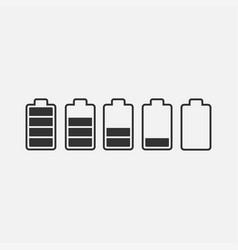 battery power icon set vector image