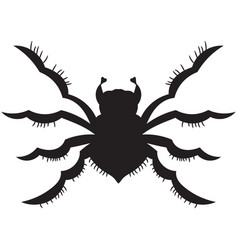 Black spider silhouette vector